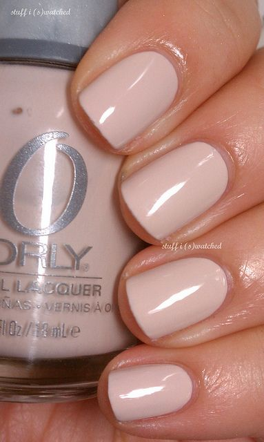Orly Nail Lacquer in Pure Porcelain. What a perfect nude shade.