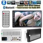 """7"""" HD Touch Screen Double 2DIN Car Stereo Player FM  Bluetooth Radio Camera"""