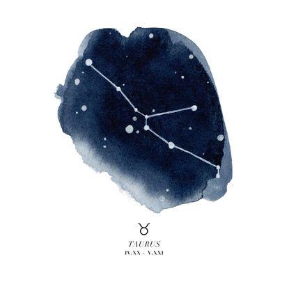 Zodiac Constellation - Taurus Art Print