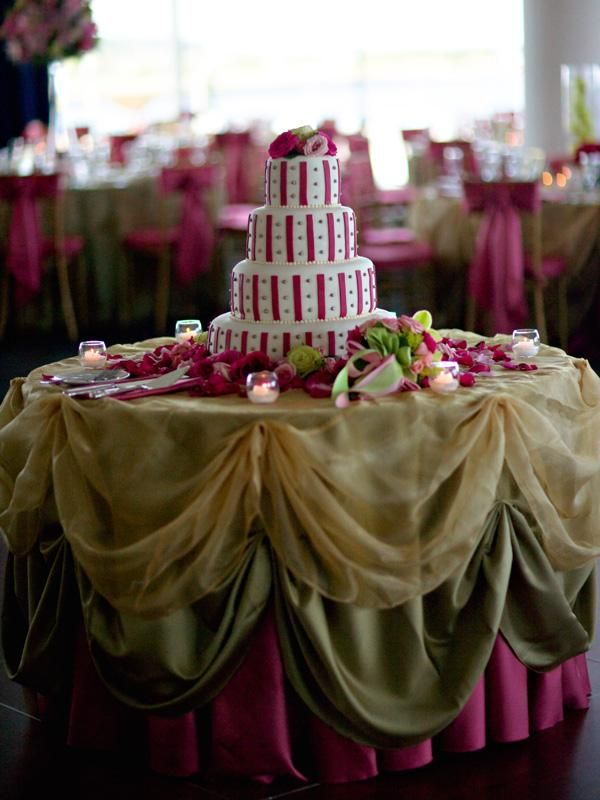 Layered Look For Cake Table