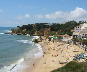Praia dos Olhos d'Agua (eyes of the water), Albuferira, Portugal :)