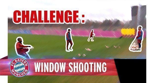 Robert Lewandowski i Douglas Costa próbują trafić piłką w okno • Ciekawe wyzwanie piłkarzy Bayernu Monachium • Wejdź i zobacz film >> #bayern #bayernmunich #football #soccer #sports #pilkanozna