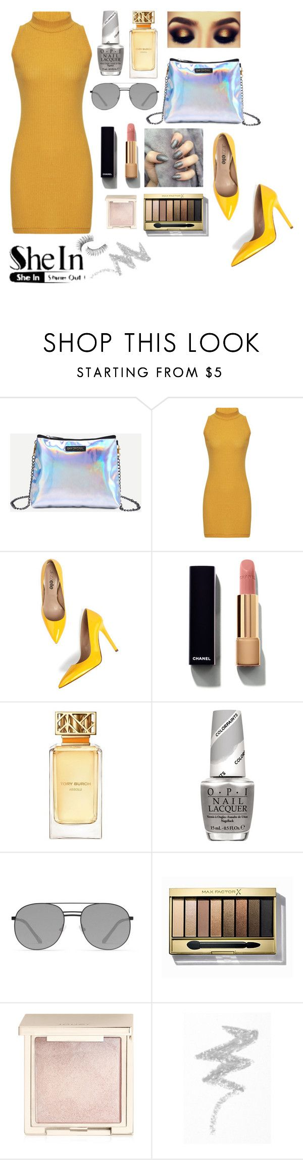 """""""Marry jane"""" by sitiperenggi on Polyvore featuring Chanel, Tory Burch, OPI, Elizabeth and James, Max Factor, Jouer, NYX, Trish McEvoy, Sheinside and shein"""