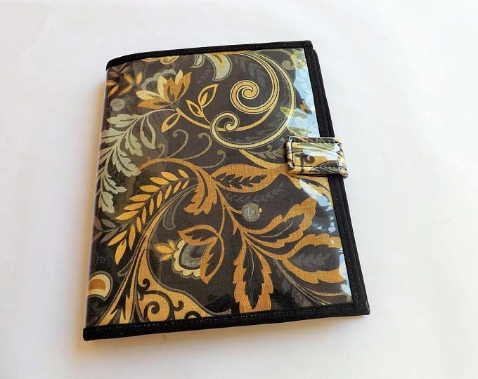 JW Ministry Organizer|JW Magazine Holder|JW Tract Holder|Service Organizer|Invitation Holder|Contact Card Holder:Ebony Gold Floral