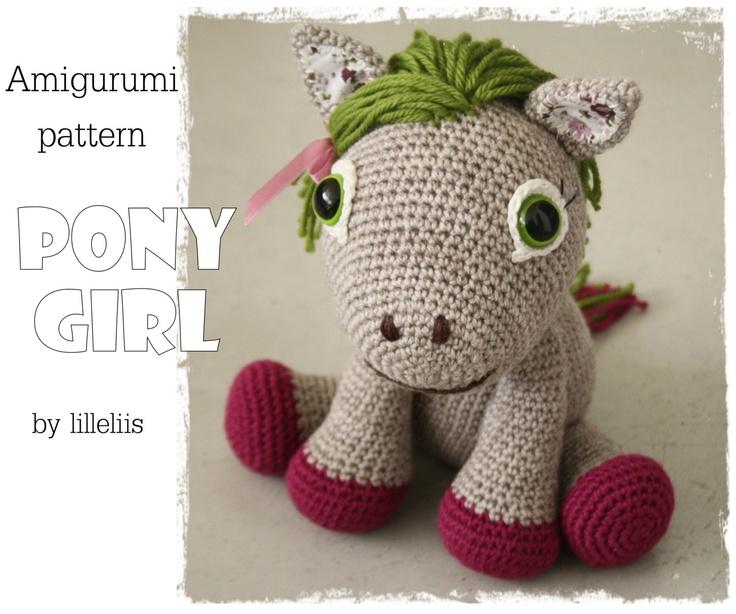 PATTERN Pony girl (alias Leila the Pony) - crochet amigurumi toy. $6.50, via Etsy.