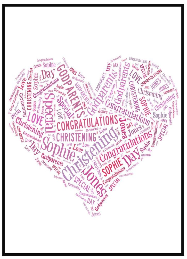 PERSONALISED WORD ART PICTURE - *** FREE POSTAGE ***