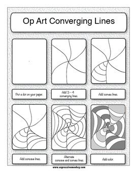 Printables Op Art Worksheet 1000 ideas about op art lessons on pinterest optical and the elements of expressive monkey teacherspayteachers com