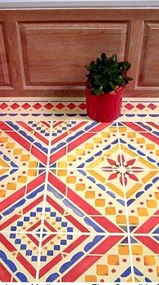 mediterranean floor stencil