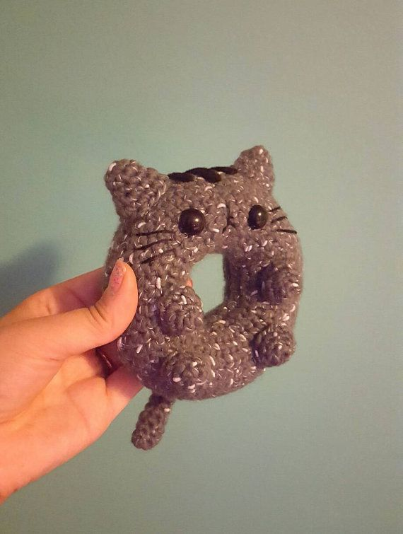 Donut Cat Amigurumi Pattern Kawaii Cat by OutlawHeartCreations