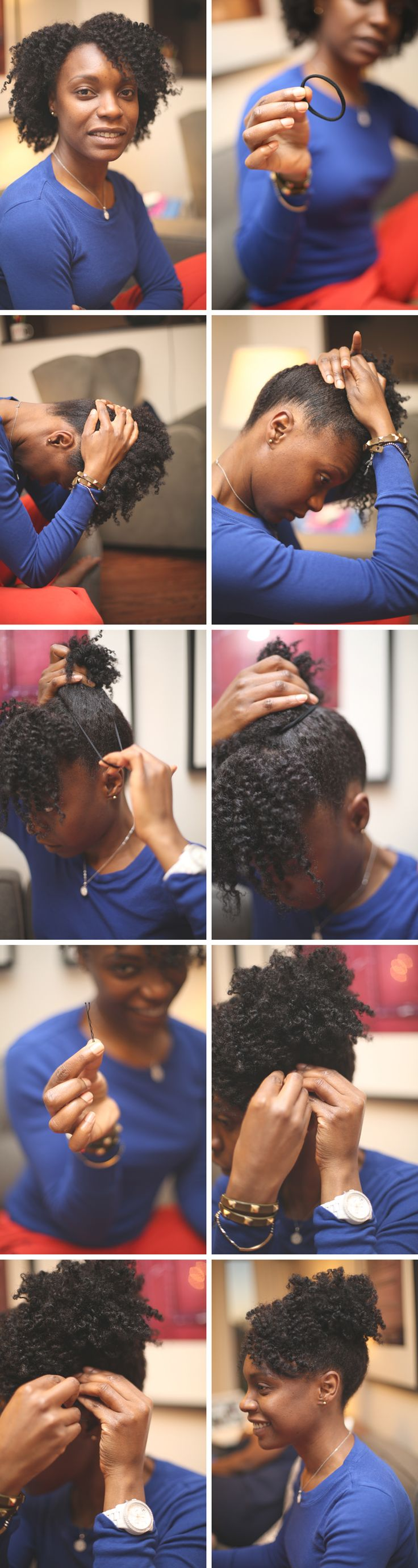 Updo with old twistout – Frizé Frizé // I feel like if I did this it wouldn't turn out half as nice. I still love it though.