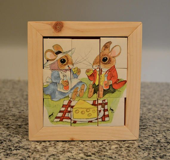 Wooden Puzzle Using Vintage Book Illustrations/Kids Toys