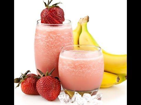 Sağlıklı içecek. Çilekli Muzlu smoothie tarifi   Güzellik Yayını - YouTube