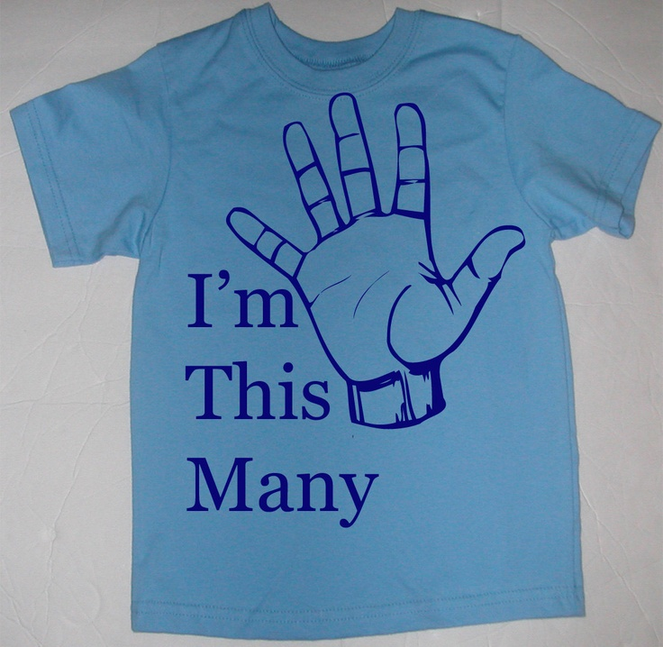 Im This Many Five Birthday Fifth 5th T-Shirt or Onesie - YOU CHOOSE COLORS and Size. $19.95, via Etsy.