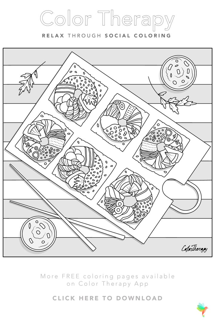 Color Therapy Gift Of The Day Free Coloring Template In 2020 Color Therapy Coloring Pages Free Coloring Pages