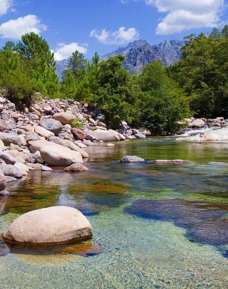 Corsica - Calvi - Manso,La Vallée du Fango.- Manso est une commune française, située dans le département de la Haute-Corse en région Corse. La commune appartient à la microrégion du Filosorma.