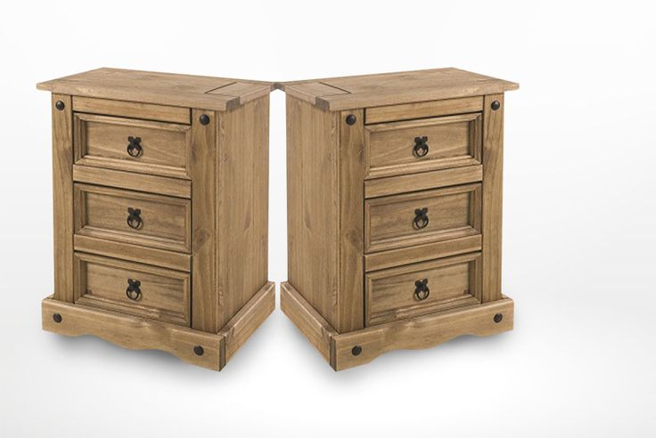 £49 instead of £145.71 (from Label Dose) for a Corona Mexican three-drawer solid pine bedside table, £99 for two tables - save up to 66%