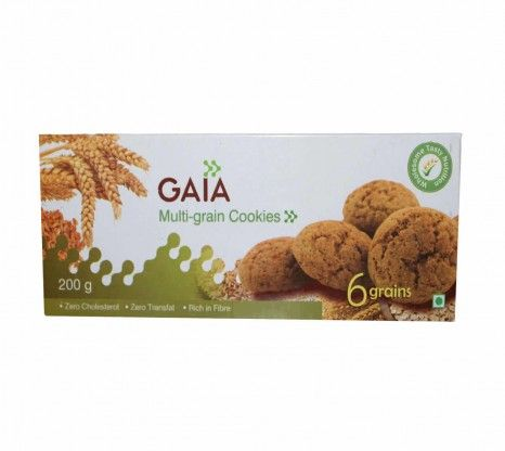 Gaia Multi-grain Cookies 200g at Rs.50 only!