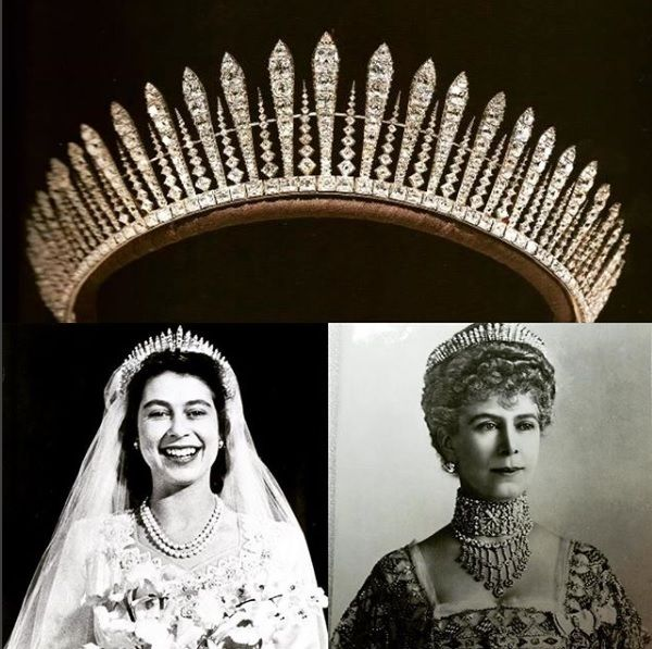 Queen Mary's Fringe tiara #jewelry #royal #tiara #queen | Royal jewelry, Royal crowns, Royal jewels