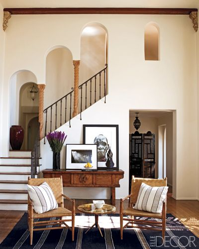 Ellen Pompeo's house, those stairs & arches are lovely.