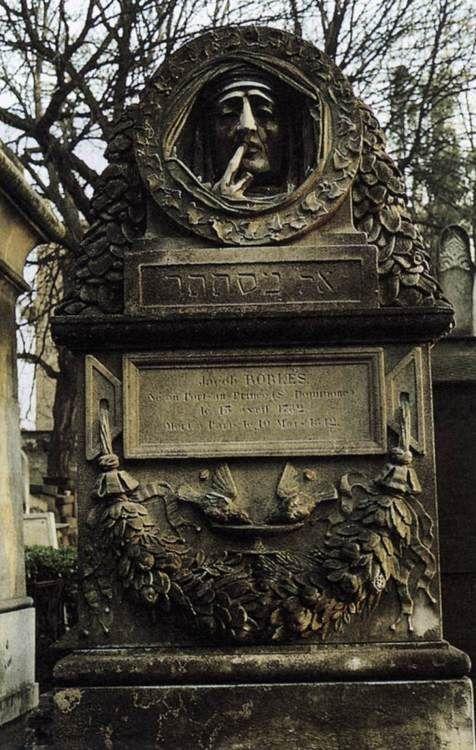 The Silence of Death, Tomb of Jacob Robles  1849  Marble  Père-Lachaise Cemetery, Paris    Antoine-Augustin PRÉAULT