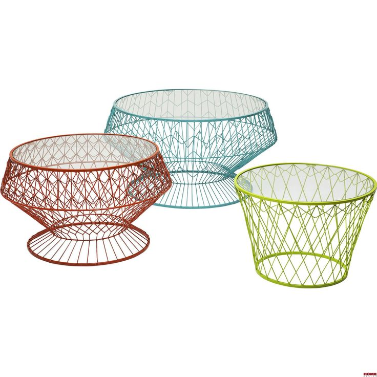 Kare Design :: Stolik Kawowy Wire Color (Zestaw/3sztuki) (79576) - Home Design