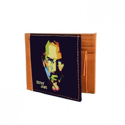 Steve Jobs Canvas Wallet