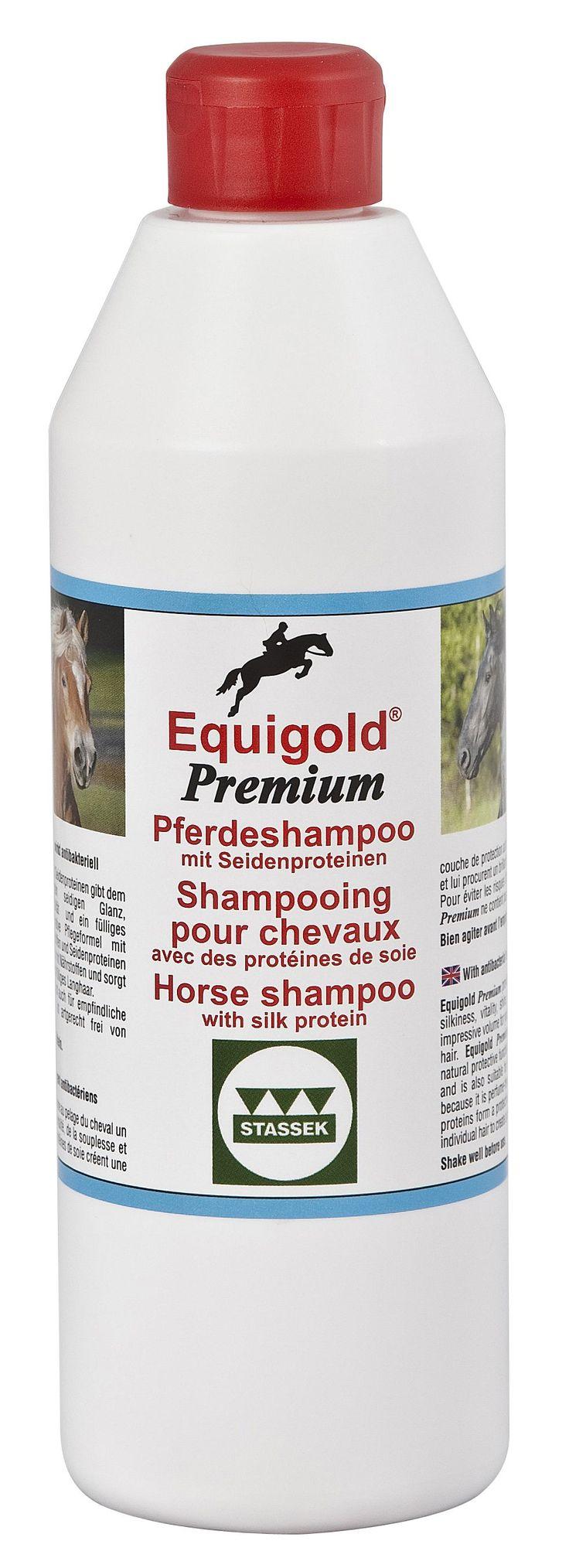Stassek Equigold Premium Luxus-Pferdeshampoo mit Seidenproteinen, artgerecht parfumfrei, mehr auf www.stassek.com --  Stassek Equigold Premium luxury horse shampoo with silk proteins, species-appropriate without annoying scents, see www.stassek.com --  Stassek Equigold Premium shampoing luxurieux avec des protéïnes de soie pour chevaux, sans parfum fâcheux, voir www.stassek.com
