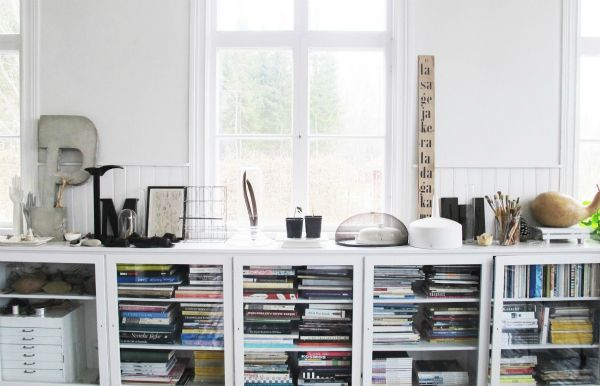 Love the glassed-in bookcase. And the top makes for a wonderful display for your artifacts.