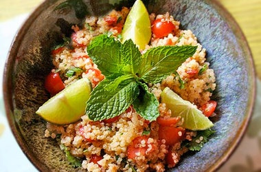 Quinoa Salad Recipe with Lime + Fresh Mint — Punchfork