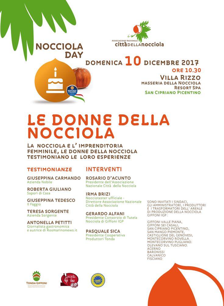 """NOCCIOLA DAY. Domani, a Villa Rizzo, """"le donne della nocciola"""" dei Monti Picentini"""
