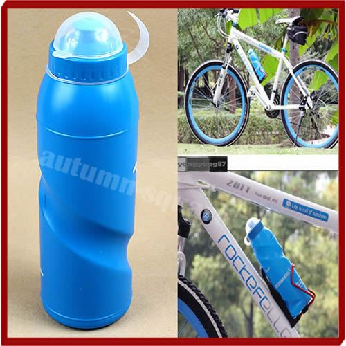 E74  Sports Water Bottle Outdoor Sports Cycling Camping Bicycle Bike water bottle 700ml Blue