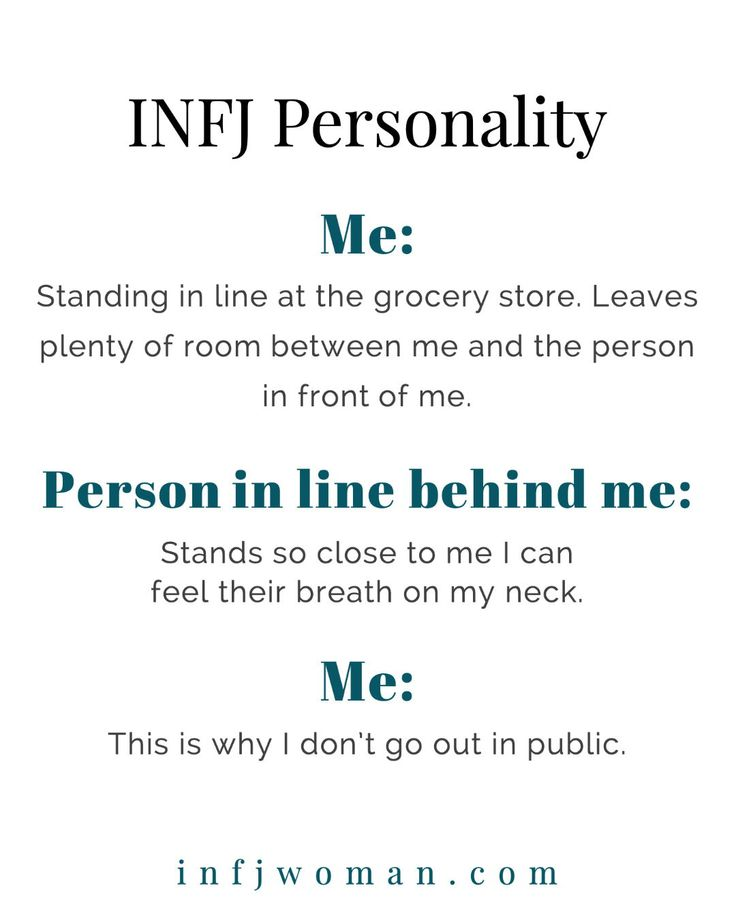 INFJs need some personal space