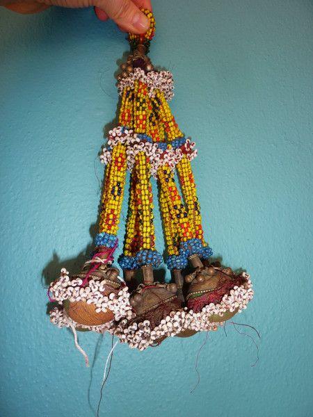 Tribal Perlen-Quaste, vintage von SALOME  auf DaWanda.com