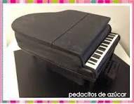 Resultado de imagen de tartas de chuches de piano de cola