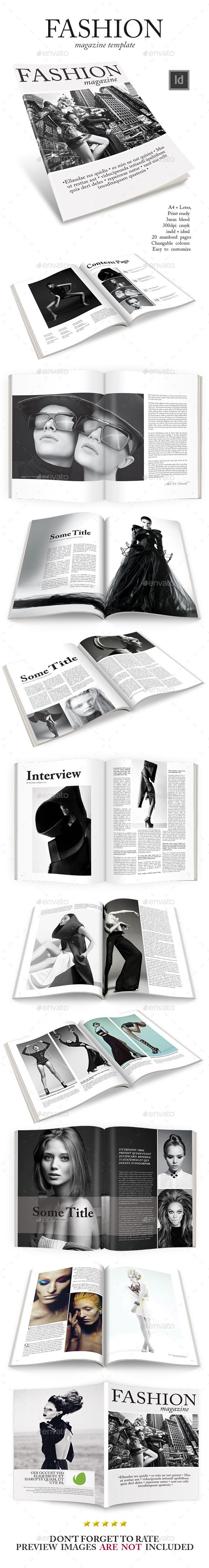 Fashion Magazine Template — InDesign INDD #classy #modern • Available here → https://graphicriver.net/item/fashion-magazine-template/9286785?ref=pxcr