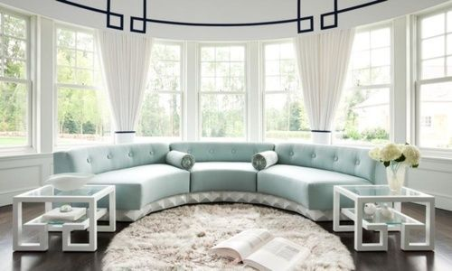 tablesssss: Modern Declaration, Dreams Houses, Living Rooms, Home Interiors, Shabby Chic, Interiors Design, Colors Schemes, Window Treatments, Bays Window