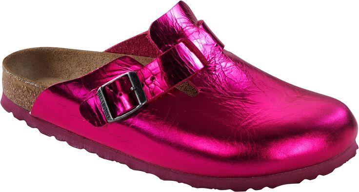 Birkenstock Boston Damen Clogs Pink Metallic, EU 43