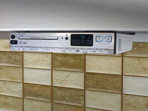 under counter radio with player light amp clock sony icf cabinet kitchen icfcd. Interior Design Ideas. Home Design Ideas