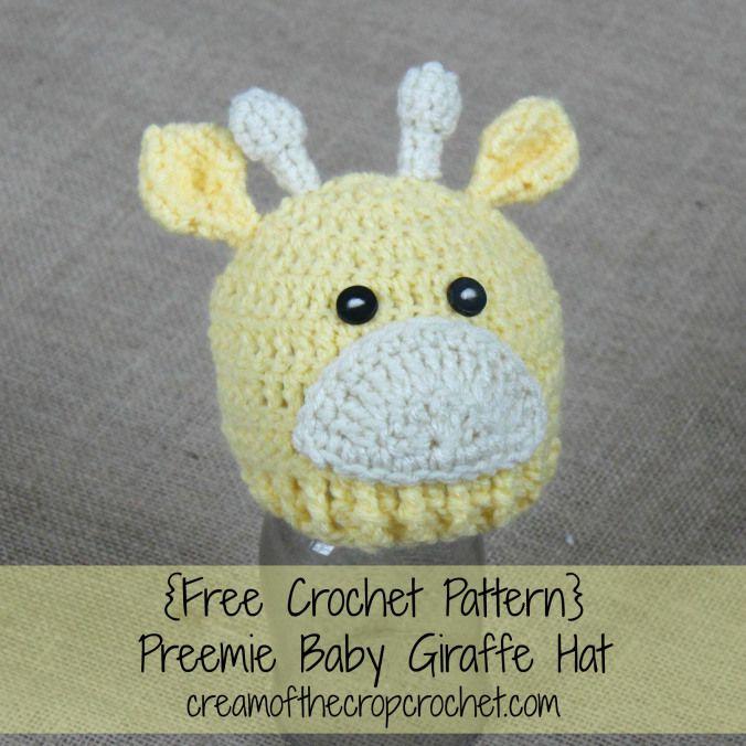 Free Crochet Pattern Giraffe Hat : Cream Of The Crop Crochet ~ Preemie Baby Giraffe Hat {Free ...
