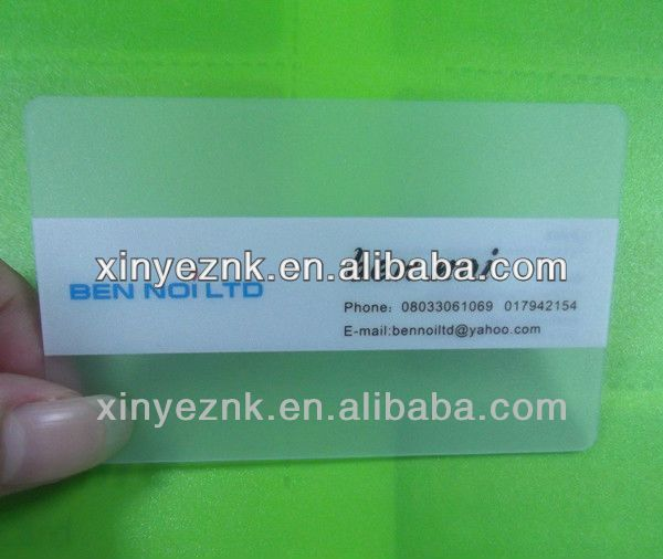 clear card!online business card design