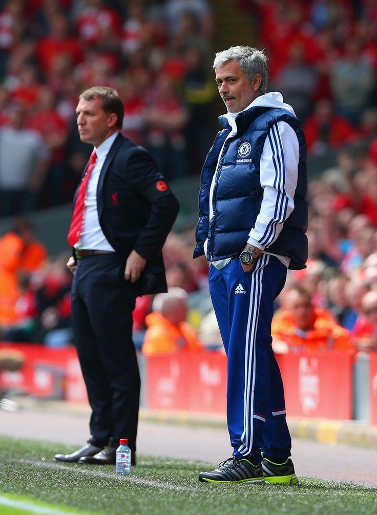 Jose Mourinho Photos: Liverpool v Chelsea - Premier League