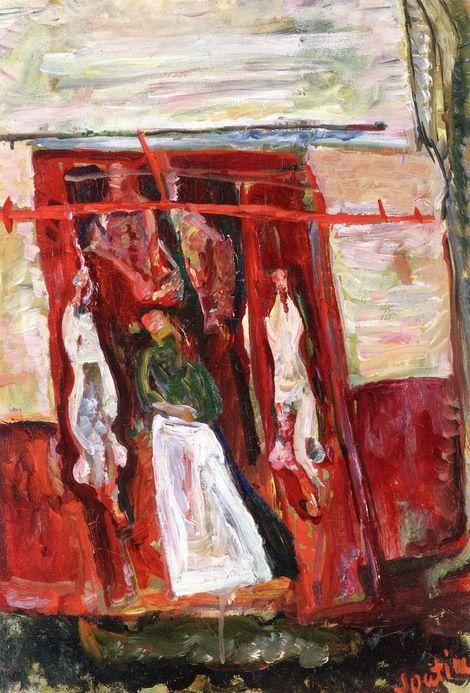 Chaim Soutine, Butchers Meat Rack on ArtStack #chaim-soutine #art