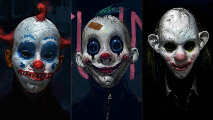 Dark Knight concept art Joker's Clown Gang