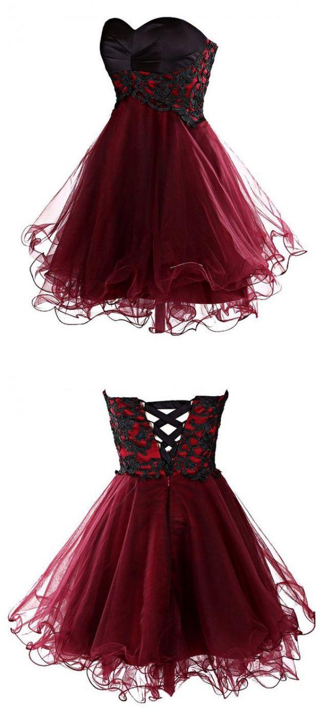 short mini burgundy homecoming dress cocktail dress, dresses for homecoming