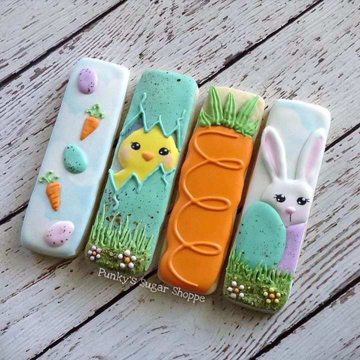 """145 Likes, 11 Comments - Tara (@punkyssugarshoppe) on Instagram: """"Here's the easter cookie box set I'm offering this year! *sold out Cookie sticks cutter by…"""" Easter"""