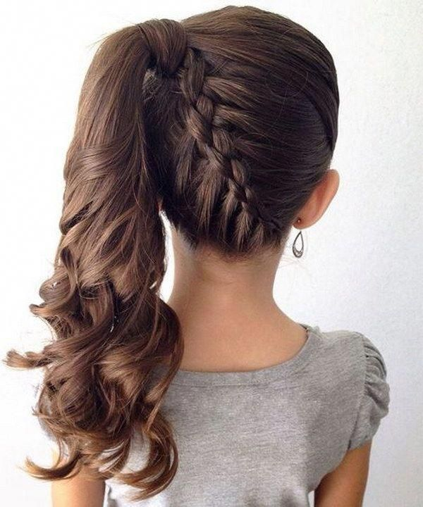 Girls Upstyles Cool Female Haircuts Hairstyles For Little Girls Easy 20190108 Little Girl Braid Hairstyles Hair Styles Braided Ponytail Hairstyles