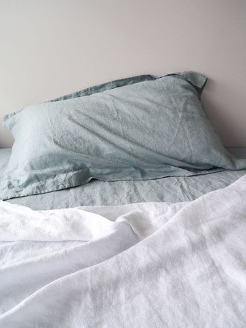 Dove S/W Linen Oxford Pillowcase Pair