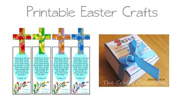 Easter Bible Resources - Easter is a wonderful holiday for celebrating God's promise of salvation in Jesus Christ! This is a  great opportunity to share the true reason and meaning behind our Easter holiday.  Here are some printable bible crafts you can use for Easter/Resurrection  You'll find printable Easter Cards, Printable Bookmarks, Printable Gifts and more!