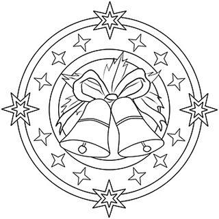 Mandala mit Glocken und Sternen