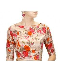Designer Printed Blouse..  http://www.kmozi.com/designer-blouse/designer-printed-blouse-1024